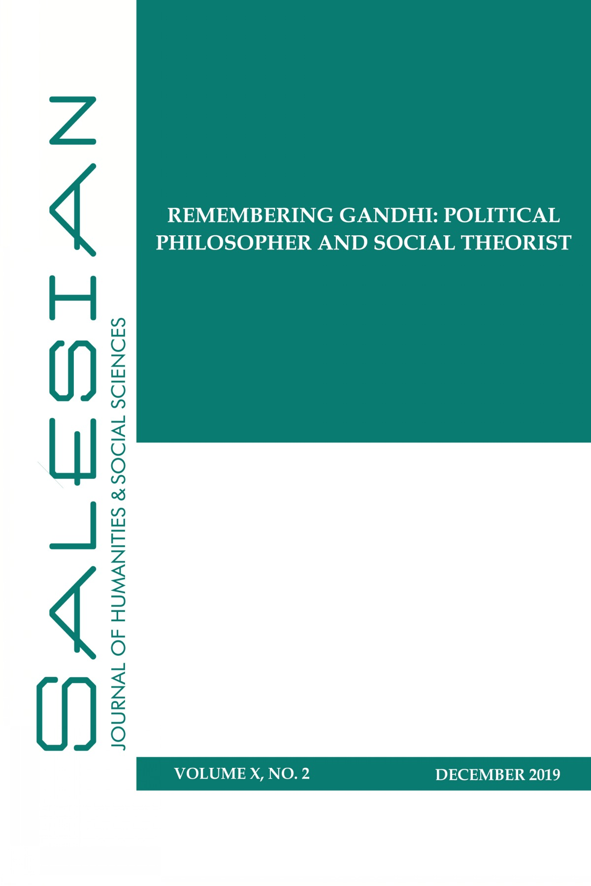 Gandhi as Political Philosopher and Social Theorist
